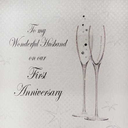 FIRST ANNIVERSARY - TO MY HUSBAND