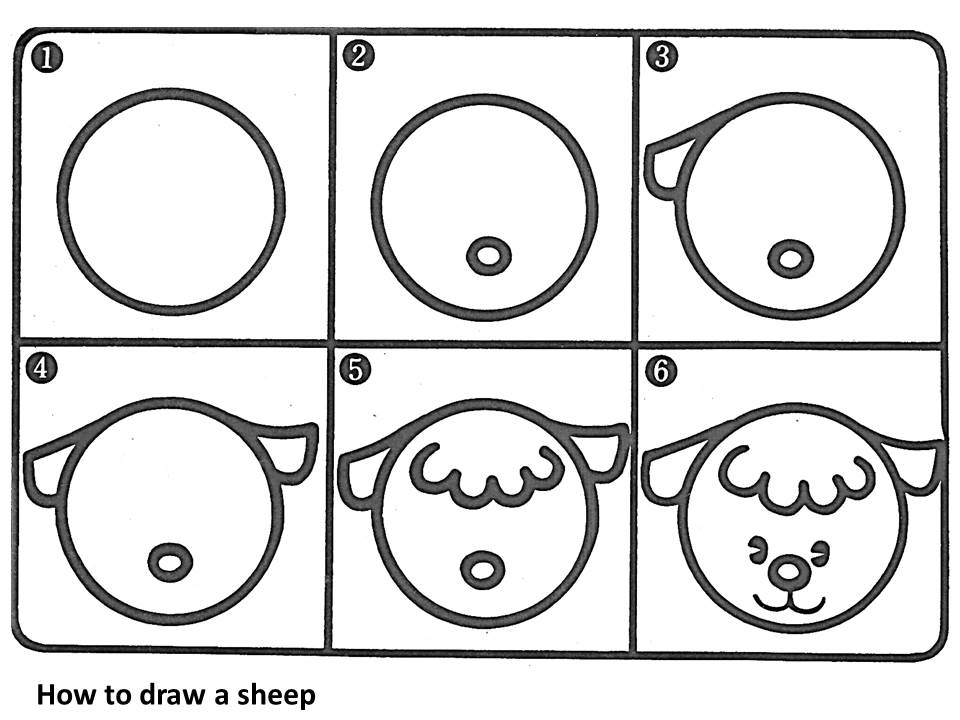 How To Draw A Cartoon Sheep And 5 Fun Activity Ideas Onelsb