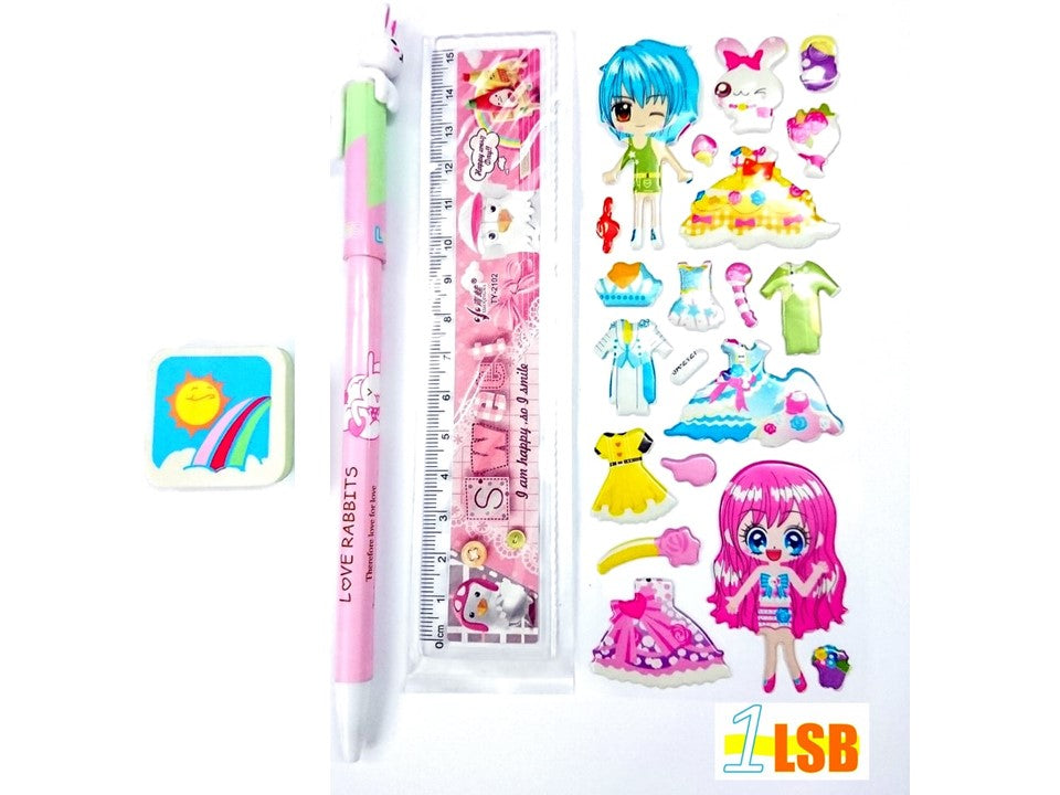 "NEW! SVT14B ""Happy Rabbit"" Stationary Set B"