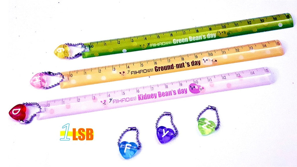 "SV73 ""Sunny Days"" 15cm Ruler with Choice Letter Charm"