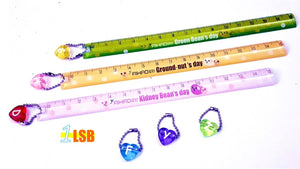 "SWSK31 ""Sunny Days"" 15cm Ruler with Choice Letter Charm Set of 12"