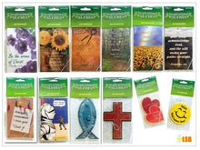 "Load image into Gallery viewer, AFB01 ""Faith in God"" Inspirational Air Freshener 1 - 12"