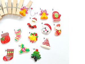 "SWSK35 ""HoHoHo Joyful Season"" Mini Paper Clips Set of 12"