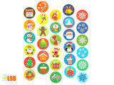 "NEW! LSK02 ""Joy to the World"" Christmas Stickers Set of 10"