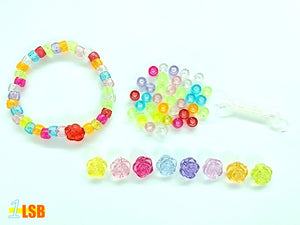 "DIYC03 ""Pretty Rose"" DIY 40 Beads & Elastic Cord Set"
