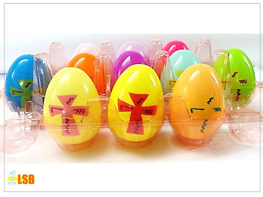 EEG02 Cross Acrylic Easter Eggs Random Set of 4 (Empty)