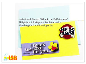 "FMB01 ""Good Easter"" Magnetic Bookmark and Pin Set #1"