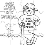 "JWP02 ""Praise God"" 16-PCS Craft & Colour-Your-Own Jigsaw Puzzles Choice Set of 2"