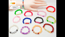 "将图片加载到图库查看器,SUKD01 ""Cat-eye"" Effect Acrylic Beaded Bracelets Set of 6"
