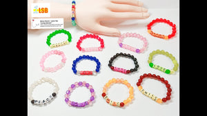 "SUKD01 ""Cat-eye"" Effect Acrylic Beaded Bracelets Set of 6"