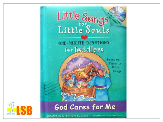 (UP to 60% OFF) PABC74 Little Songs for Little Souls CD and Devotions & Songs Book - God Cares for Me