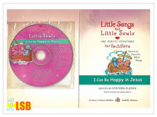 将图片加载到图库查看器,(UP to 60% OFF) PABC75 Little Songs for Little Souls CD and Devotions & Songs Book - I Can be Happy in Jesus