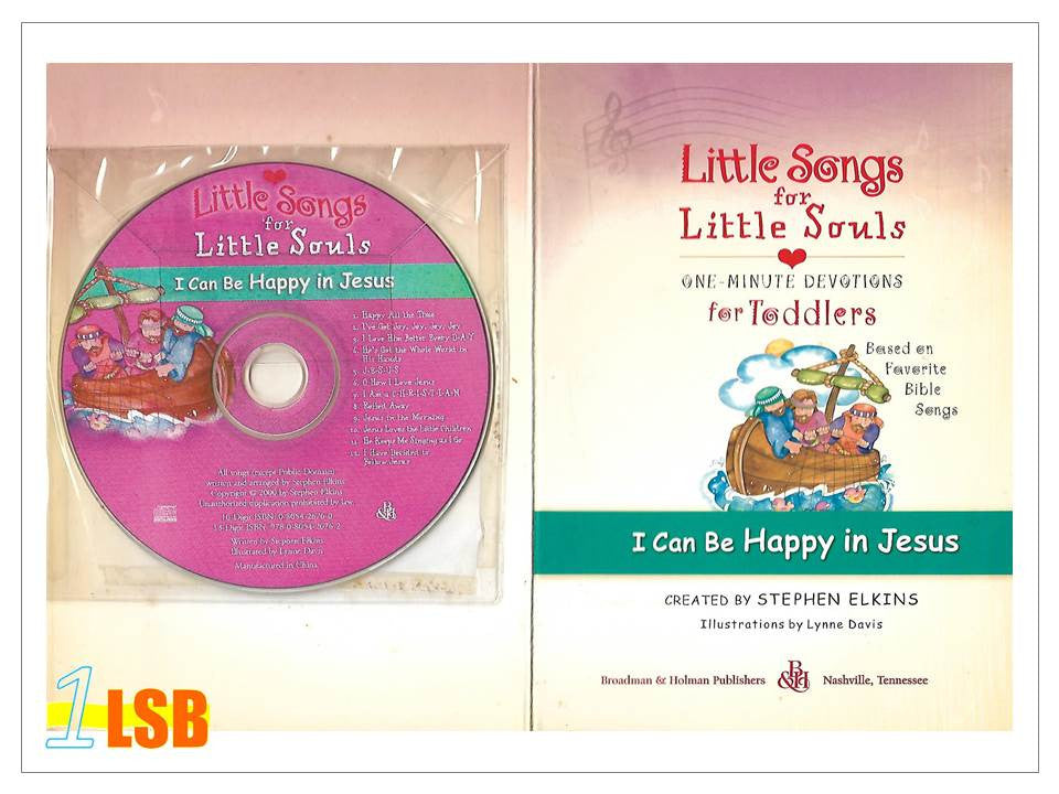 (UP to 60% OFF) PABC75 Little Songs for Little Souls CD and Devotions & Songs Book - I Can be Happy in Jesus