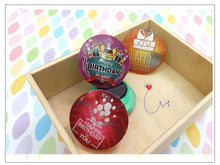 "Load image into Gallery viewer, MGN01 ""Happy Birthday"" Magnet Set of 2"