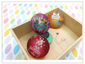 "MGN01 ""Happy Birthday"" Magnet Set of 2"