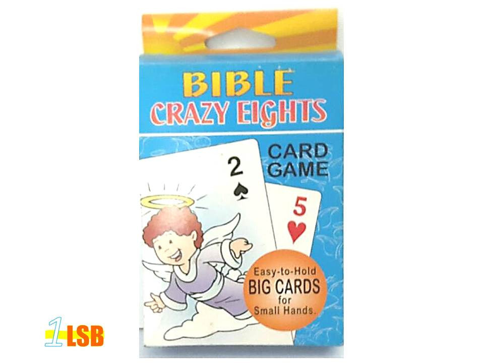 UP To 50% PABR01 Bible Crazy 8 Card Game