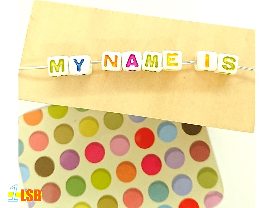 "DIYC09 ""My Colours"" Letter Beads Set"
