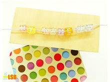 "Load image into Gallery viewer, DIYC10 ""My Sweets"" Letter Beads Set"