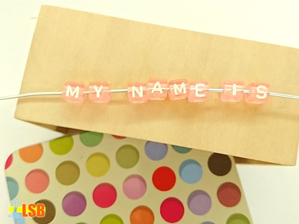 "DIYC12 ""Pink"" Letter Beads Set"