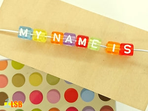 "DIYC14 ""Happiness"" Letter Beads Set"
