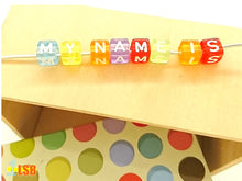 "Load image into Gallery viewer, DIYC14 ""Happiness"" Letter Beads Set"
