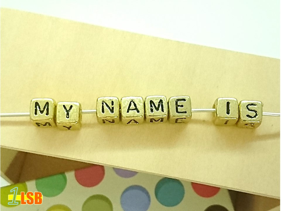 "DIYC16 ""Gold"" Letter Beads Set"