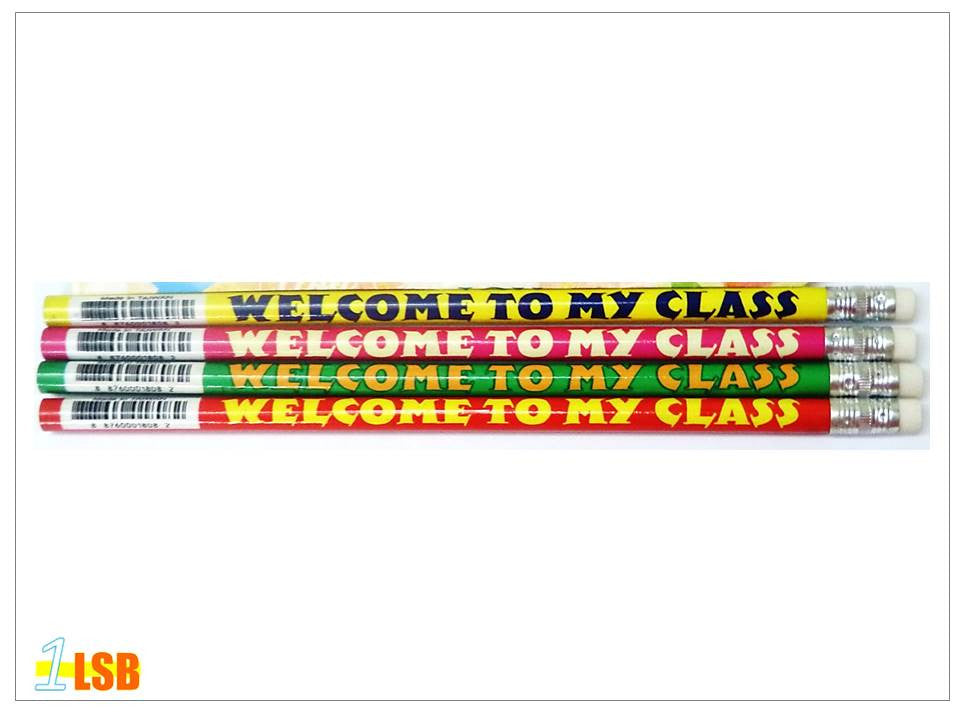 "PCL02 ""Welcome to My Class"" Pencils Set of 4 Random"