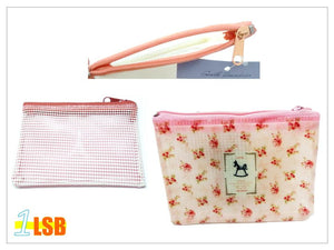 "PSS03 - ""Life & Dream"" PVC Zipper Purse"
