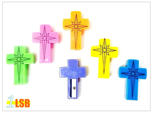 SHP01 Cross Plastic Sharpeners Set of 2
