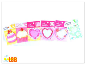 "SWSK51 ""Sweetness"" Sticky Notes Pads set of 12"