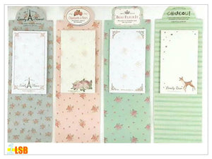 "SWSK26 ""Flora 2"" Sticky Notes Pad Set of 9"