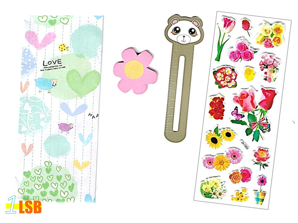 "SVT03 ""Sweet Flowers"" 3D Stickers Magnet Bookmark Super Value Set"