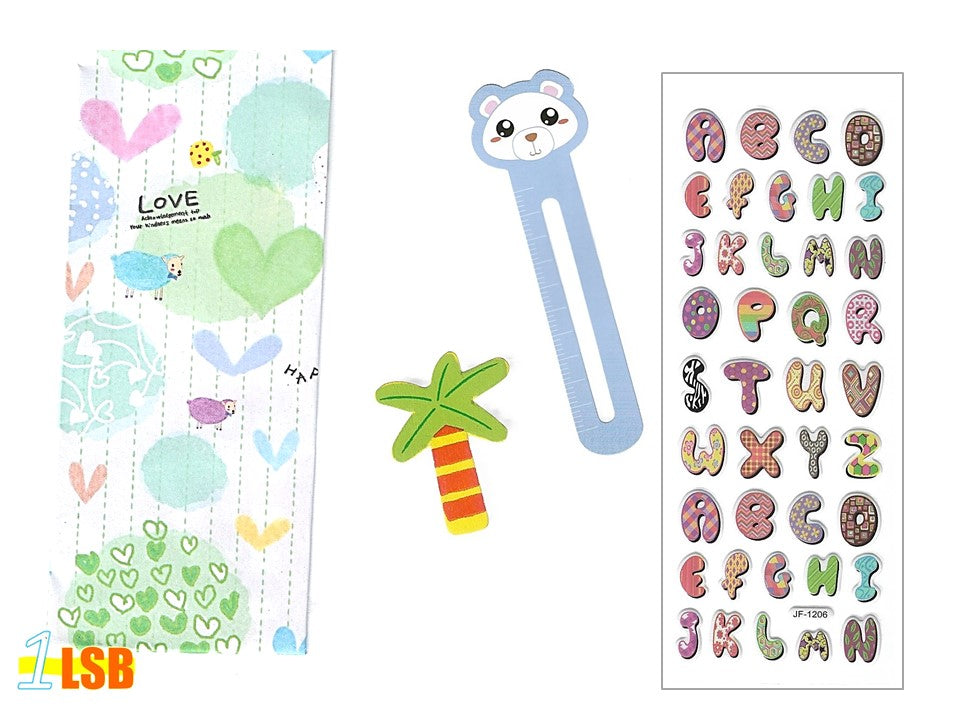 "SVT05A ""Joyful ABC"" 3D Stickers Magnet Bookmark Super Value Set A"