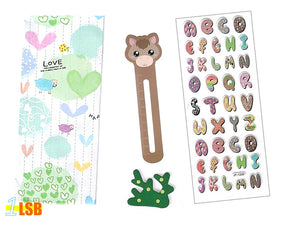 "SVT05B ""Joyful ABC"" 3D Stickers Magnet Bookmark Super Value Set B"