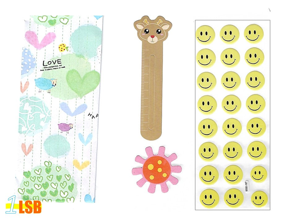 "SVT06B ""Smile!"" 3D Stickers Magnet Bookmark Super Value Set B"