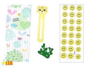 "SVT06C ""Smile!"" 3D Stickers Magnet Bookmark Super Value Set C"