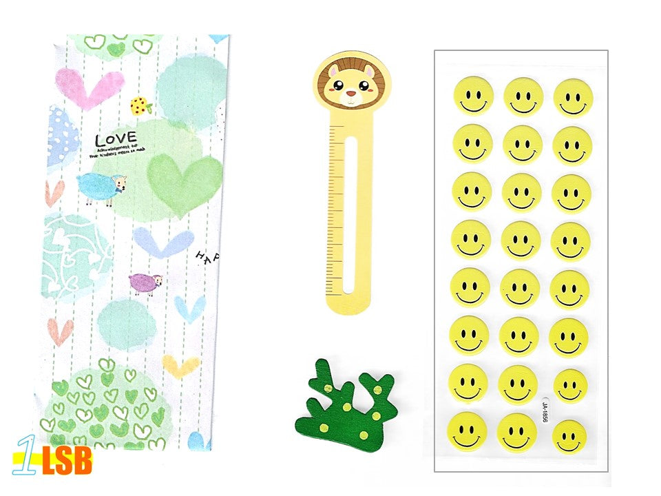 "SVT06D ""Smile!"" 3D Stickers Magnet Bookmark Super Value Set D"