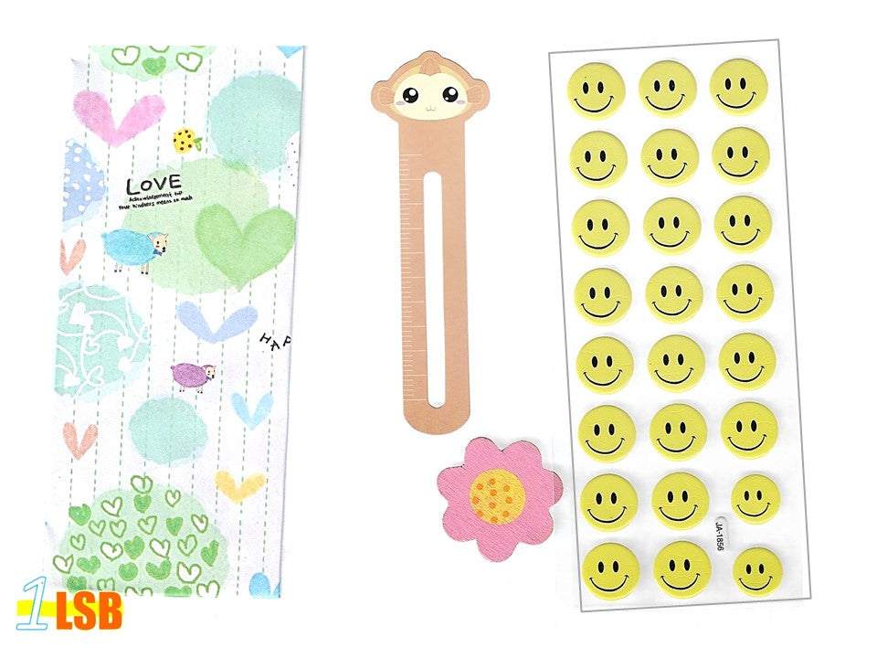 "SVT06E ""Smile!"" 3D Stickers Magnet Bookmark Super Value Set E"