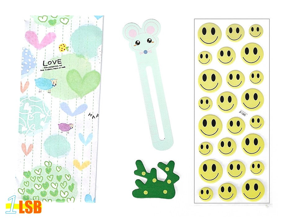 "SVT06A ""Smile!"" 3D Stickers Magnet Bookmark Super Value Set A"