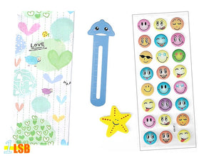 "SVT07A ""Love Life"" 3D Stickers Magnet Bookmark Super Value Set A"