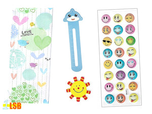 "SVT07B ""Love Life"" 3D Stickers Magnet Bookmark Super Value Set B"