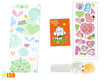 "Load image into Gallery viewer, Just Arrived! SVT08B""Jesus Loves Me"" 3D Stickers Notebook Ruler-Bookmark Super Value Set B"