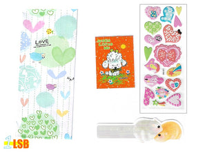 "Just Arrived! SVT08B""Jesus Loves Me"" 3D Stickers Notebook Ruler-Bookmark Super Value Set B"