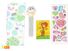 "将图片加载到图库查看器,Just Arrived! SVT08D ""God Loves You"" 3D Stickers Notebook Ruler-Bookmark Super Value Set D"