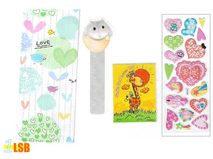 "Just Arrived! SVT08D ""God Loves You"" 3D Stickers Notebook Ruler-Bookmark Super Value Set D"
