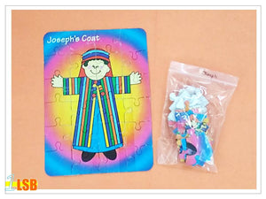 "SWSK22 ""Jospeh and His Colourful Coat"" Jigsaw Puzzles & Other Activity Super Value Set of 2"