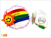 "Load image into Gallery viewer, SV45 ""Smile, Jesus Loves You"" Foam Mini Cushion DIY Craft Super Value Set"