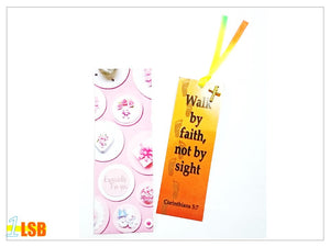 "Just Arrived! SV67 ""Walk By Faith"" Bookmark & Pin Super Value Set"