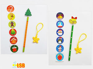 "SWSK41 ""Jingle Joy"" Stickers Super Value Christmas Set of 6"