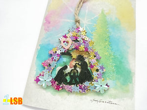 "Just Arrived! PANC06 ""Oh Christmas Tree"" Wooden Art N Craft Mixed Set of 2"